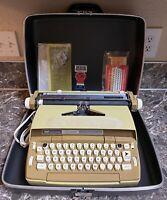Smith Corona Coronet Automatic 12 Vintage Electric Typewriter Case Manual Used