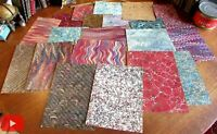 Marbled paper 20 diff. sheets c.1830-1890's European American mixed #C4