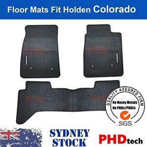 Premium Quality All Weather Rubber Floor Mats Holden COLORADO RG CREW DUAL CAB