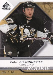 08-09 SP GAME USED AUTHENTIC ROOKIE PAUL BISSONNETTE RC /999 #167 BIZNASTY!!