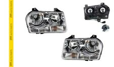 CHRYSLER 300C 05-10 NEW HEAD LIGHT STRAIGHT BOTTOM TYPE- PAIR (LH + RH)
