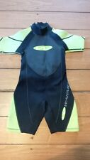 Super nice - WARMERS - Kids Wetsuit Black & Lime Green - Size XS