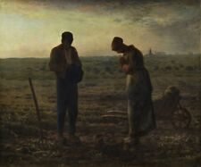 The Evening Prayer Jean Millet Canvas Art Print from Painting HQ Wall Art 8x10