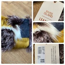 River Island Textured  Mongolian Faux Fur Leather Bag RRP £70 BNWT NEW