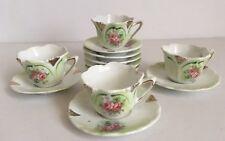 Vintage Miniature Child's Tea Set ~ Cups, Saucers & Plates ~ 12 Pieces