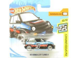 Hotwheels 85 Honda City Turbo II Black 190/365 Short Card 1 64 Scale Sealed New