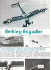 """Berkeley BRIGADIER PLAN UPDATED To a 55"""" Span 2-Channel RC Model Airplane"""