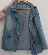 Womans Denim Style Zipped & Button Jacket - Size M