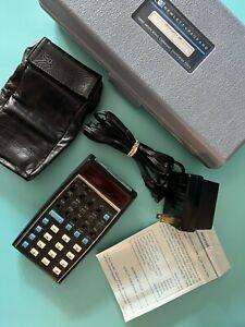 HP-35 Hewlett Packard Scientific Calculator, Soft Case, Hard Case, Charger Cord