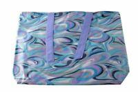 Speert Designer Evening Bag Style 4131 Blue Brown Retro Stripe Zipper Wash Vinyl