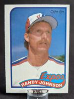 1989 O-Pee-Chee Randy Johnson Rookie card #186 Montreal Expos ⚾ Legend HOF