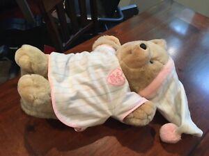 "Vintage 1986 Heart To Heart Teddy Bear Plush 18"" plush pajamas teddy bear chosun"