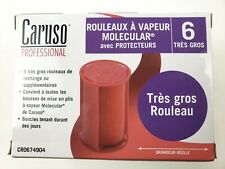 CARUSO  PROFESSIONAL  MOLECULAR  STEAM ROLLERS WITH  SHIELDS , JUMBO  (6-PACK)
