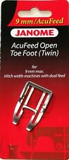 Genuine Janome Acufeed Open Toe Foot (twin) 202149004