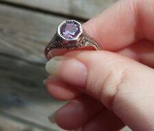 Ring Amethyst.925 Silver Ring;Fine Jewelry;Purple Stone Ring;semi-precious stone
