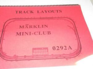 MARKLIN 'Z' MINI-CLUB 0292A TRACK LAYOUTS BOOK - LN -  NEW - M52