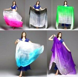 Belly Dancing Silk Veils Performance Hand Thrown Shawl Veil Bamboo Fiber Women