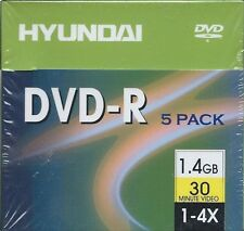 HYUNDAI DVD+R 5 Pack 30 Minute Mini's in Original Plastic NEW