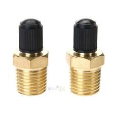 """2pcs 1/4"""" Brass Tire Tyre Air Compressor Tank Fill Valves for Dunlop Valve"""