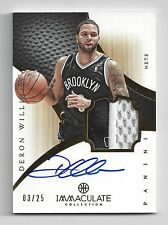 2012-13 Panini Immaculate Deron Williams 2 Color Patch Autograph #/25 Nets