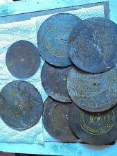 Polyphon Platten, um 1900 ,7 Stk,  6x19  cm,1x 14cm Durchmesser