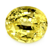 Certified Natural Ceylon Sapphire 0.91 ct Yellow Flawless Oval Sri Lanka Gem