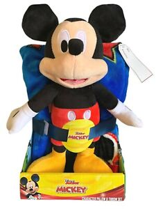 Disney Junior Mickey Mouse Character ~ Pillow & Throw Set