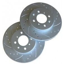 TRUHART DRILLED/SLOTTED FRONT ROTORS FOR 90-00 HONDA CIVIC CX/DX/LX/HX