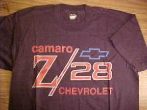 Camaro Z/28 Black Tee Shirt Sz L, NOS Never Worn, USA Cotton Blend, Chevy