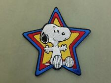 snoopy star embroidered iron on patch