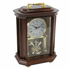Wm. Widdop Wooden Anniversary Clock Octaganal w/Handle