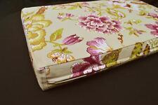 LF807t Gray Purple Pink white Cotton Canvas 3D Seat Box Shape Cushion Cover