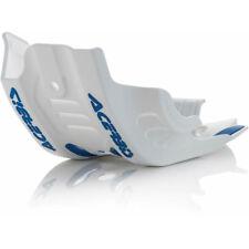 Acerbis MX Enduro Bike Skid Plate - Husqvarna FC450 16-18 - White w/Blue