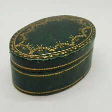 ANTIQUE GREEN JEWELLERY CASE ONLY