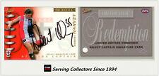 2001 Select AFL Authentic Captain Signature Redemption CS14 Robert Harvey (St.k)