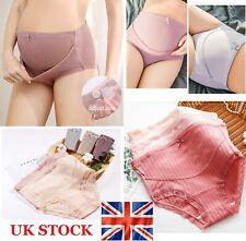 4PCS Maternity Knickers Adjustable High Cut Cotton Over Bump Underwear Panties