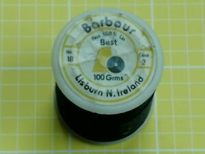 Barbour's Pure Flax 100% Linen Thread 100g No 18 Cord 3 ~ 18/3 ~VGC