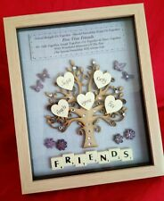 SET OF FIVE BEST FRIENDS TREE PICTURE PERSONALISED FRAME KEEPSAKE GIFTS