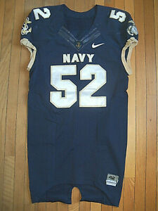 VTG Nike Navy Midshipmen Authentic Game Used Worn Football Jersey NICE GAME USE!