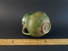 Museum Quality Medieval Pre Columbian Han Dynasty Green Glazed Pottery Pitcher