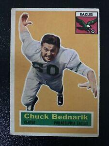 1956 Topps #28, Chuck Bednarik Philadelphia Eagles HOF Center
