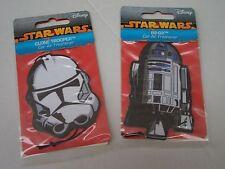 Disney Star Wars Car Air Freshener Clone Trooper & R2 D2 New & Sealed