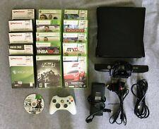 Microsoft Xbox 360 Slim Console 4GB w/ KINECT, 16 GAMES, 1 CONTROLLER