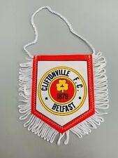 Cliftonville FC Belfast fanion vintage football  banderin pennant wimpel Ireland