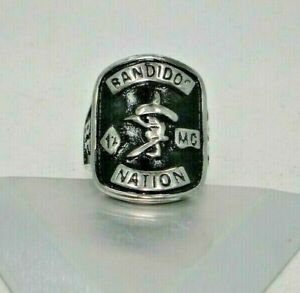 Bandidos Nation MC club 1%er Biker Solid Stainless Steel 316L ring new size 10