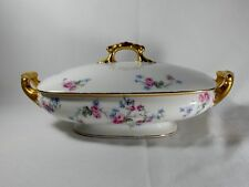 Limoges France LIM10 Rectangular Covered Vegetable Bowl