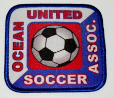 3 Soccer Assoc. Team Club Ocean United New Jersey Iron On Patch New NOS 1990s