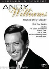 ANDY WILLIAMS - Music To Watch Girls By: Live (PAL R0 Music DVD) (Sld)