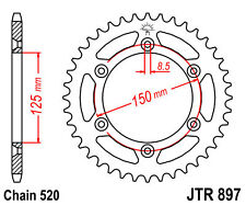 Rear Sprocket 50 Tooth KTM 125 250 450 525 530 SX SX-F #JTR897.50