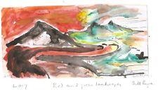 "2017 ""rouge et vert paysages"" par Bill Payne. G Sutherland influences"